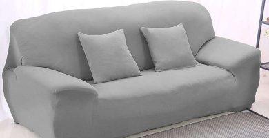 Funda cubre sofá elástica gris Winomo
