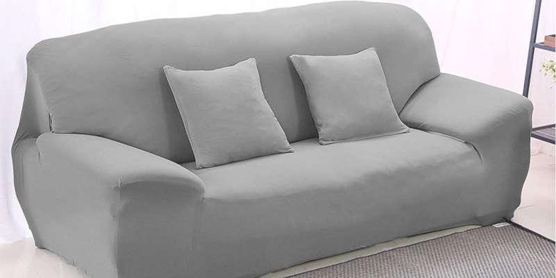 Funda Cubre Sofa Elastica Gris Winomo Elcubresofas Com