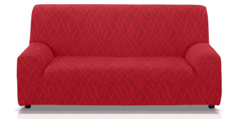 Funda cubre sofá elástica roja