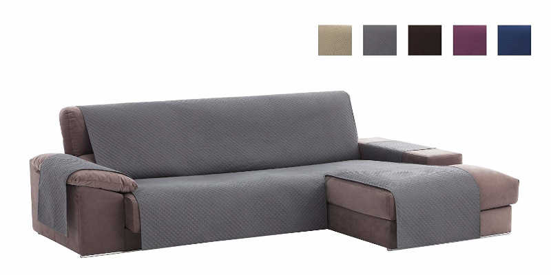 Funda cubre sofás chaise longue Textil Home