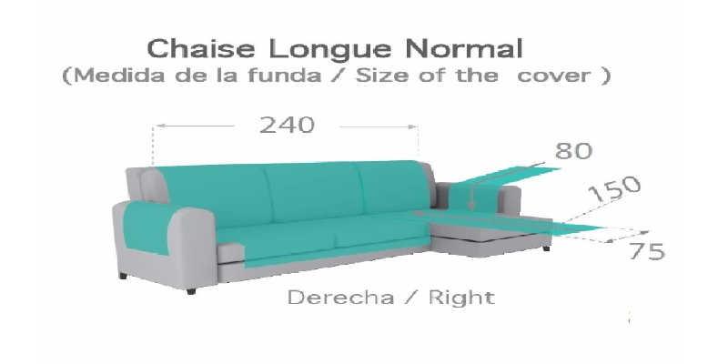 Funda cubre sofás chaise longue Textil Home precio precios comprar barato baratos barata baratas oferta ofertas rebaja rebajas