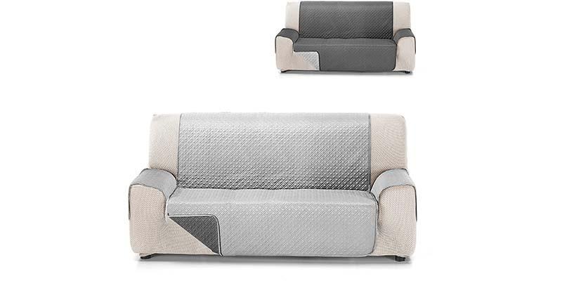 Funda cubre sofá reversible Textil Rubí